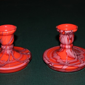 Small Candle Holders - Art Glass