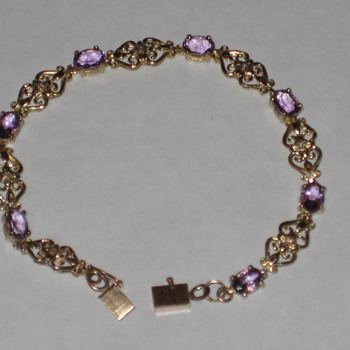 Amathyst & Diamond Bracelet