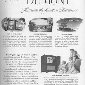 1951 - DuMont Electronics Advertisement - Advertising