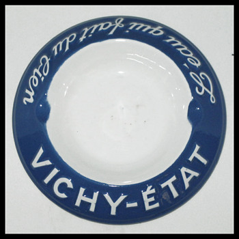 Vichy-Etat Ashtray pre WWII - Tobacciana
