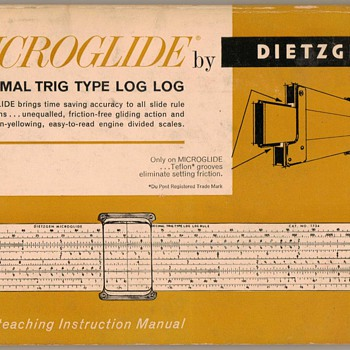 1960 - Dietzgen Slide Rule Instruction Manual - Office