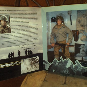 "1 of a kind Autographed 12"" G.I. Joe of Tom Hanks in Saving Private Ryan WWII-Original Collector's box Action Figure - Toys"
