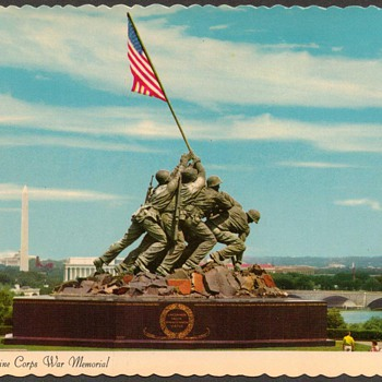 1976 - U.S. Marine Corps War Memorial Postcard