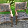2 Edwardian kids chairs