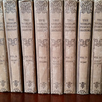 THE WORLD'S FAMOUS ORATIONS -10 volumes- By WILLIAM JENNINGS BRYAN c1906 - Books