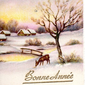 """Early """"Bonne Annee"""" Postcards from SA"""