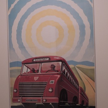 Original 1950s German Railway Travel Poster - Posters and Prints