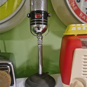 Old Crown Broadcaster Microphone - Radios