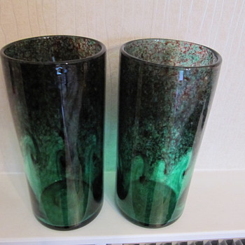 Beautiful heavy/thick glass vases - Art Glass
