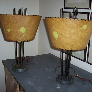 Pair of funky 50's table lamps