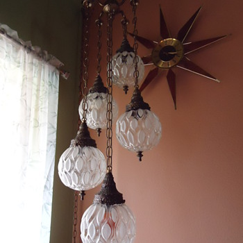 Mid Centruy 5 tiered hanging lamp