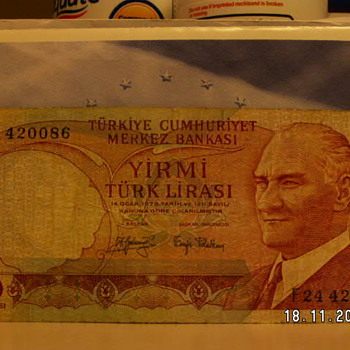 1970 Turkey 20 Lirasi