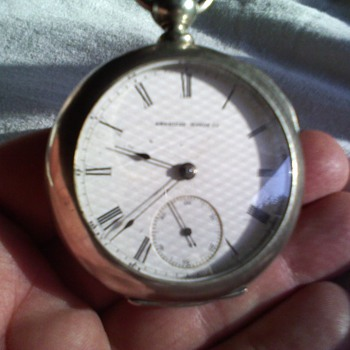 waltham 1870 ish key wind pocket watch