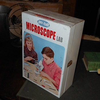 Skilcraft Microscope set for antiquerose