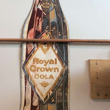 Early embossed royal crown sign - Signs