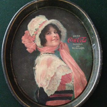 "1914"" Betty"" Girl Tray   Coca-Cola"