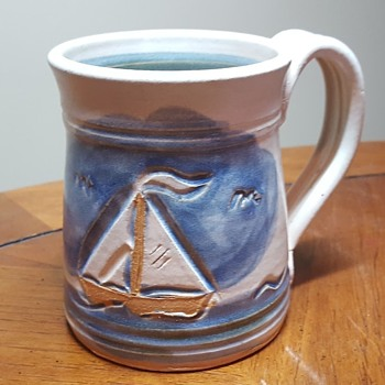 Mug with Sailboat Scene