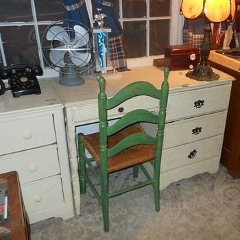 The Green Chair and More of the New Inproved Basement Room - Furniture