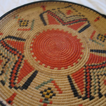 Woven Flat Basket ? - Native American