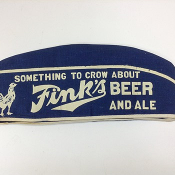 Fink's Beer Soda Jerk Bartender Hat