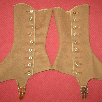 1920's Brown Wool Felt Spats - Accessories