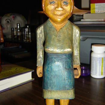 Creepy folk art hillbilly woman