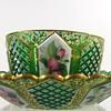Antique Bohemian Art Glass Ramekin