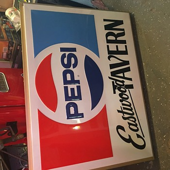 NOS double sided Pepsi sign - Advertising