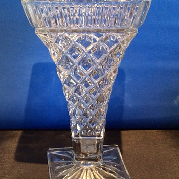 Antique large twisted glass vase - Glassware