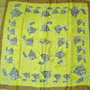 Vintage Chessie Cat Scarf