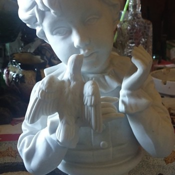 beautiful bisque girl bust