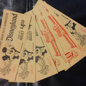 6 Vintage Disneyland tickets