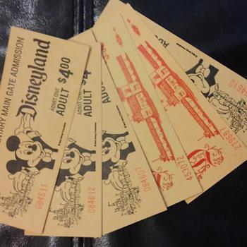 6 Vintage Disneyland tickets
