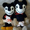 1920's-30's Vintage Mickie & Minnie Stuffed Toys