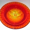 L.E. Smith Glass Eagle and Stars Ashtray