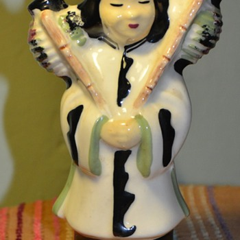 Asian Girl Planter - SBM Pottery, Calif. - Art Pottery
