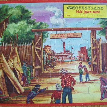 Disneyland  Frontier Land 1950's Puzzle  - Advertising