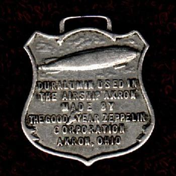 Duralumin watchfob - USS Akron