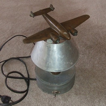 Vintage Lockheed Model 10 Electra lamp