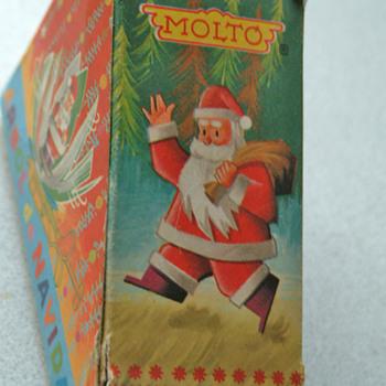 Santa spinner made in Spain Xmas ornament - Christmas