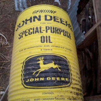 John deere 55gal drum - Petroliana