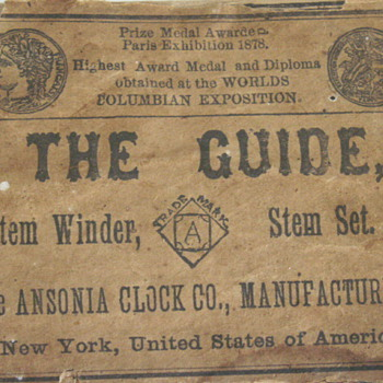 Ansonia THE GUIDE box only