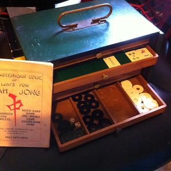 1924 Mah Jong Set - Pung Chow NY - Games