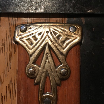 Antique trunk brass plated hardware 2