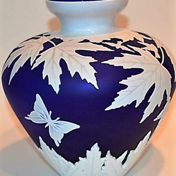 Blue Cameo Vase