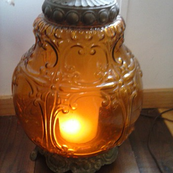 Falkenstein Amber Glass Lamp #4090-5 - Lamps