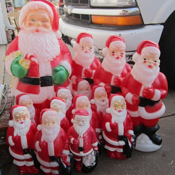 Santa Blow Molds - Christmas