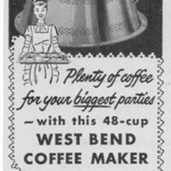 1954 West Bend Coffeemaker Advertisement - Advertising