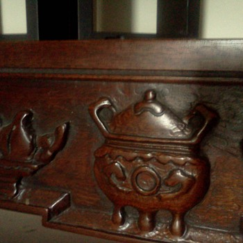 Chinese or Japanese carved nesting tables i know my grandma paid alot for! - Furniture