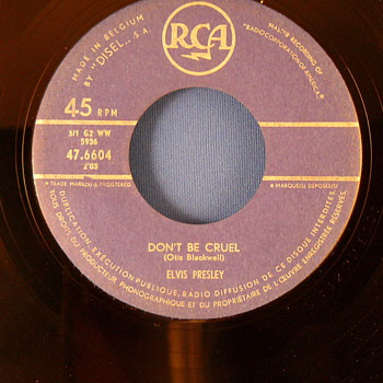 Elvis Presley - Hound dog/ Dont be Cruel (Belgium, blue RCA label)